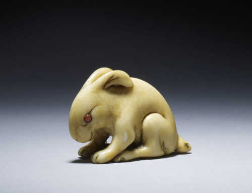 Netsuke of a seated hare