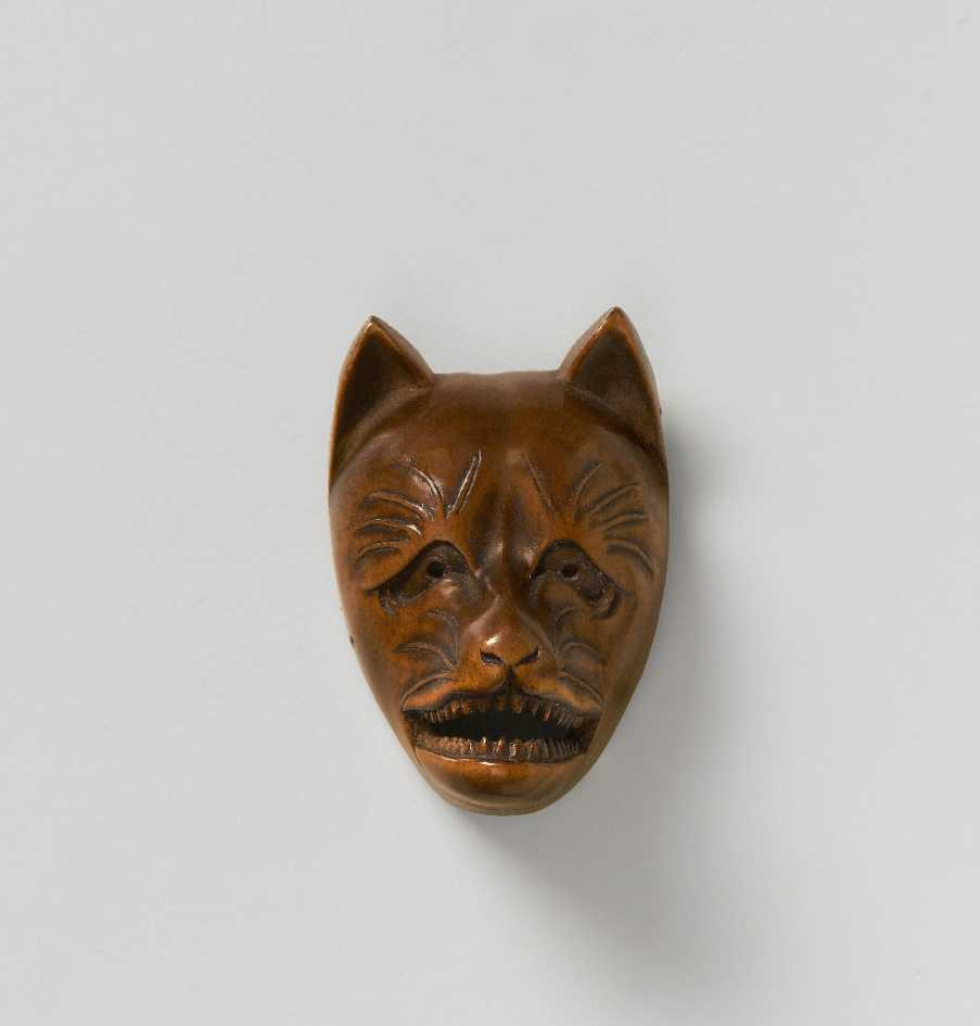 wood-mask-netsuke-kitsune