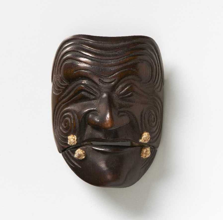 wood-mask-netsuke-sanka-jo-deme-family-