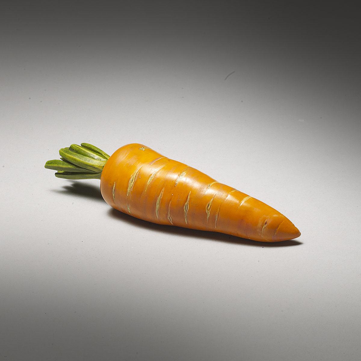 **SOLD**Ivory Okimono of a Carrot