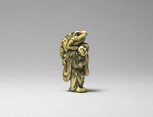 Ivory netsuke of Gama Sennin