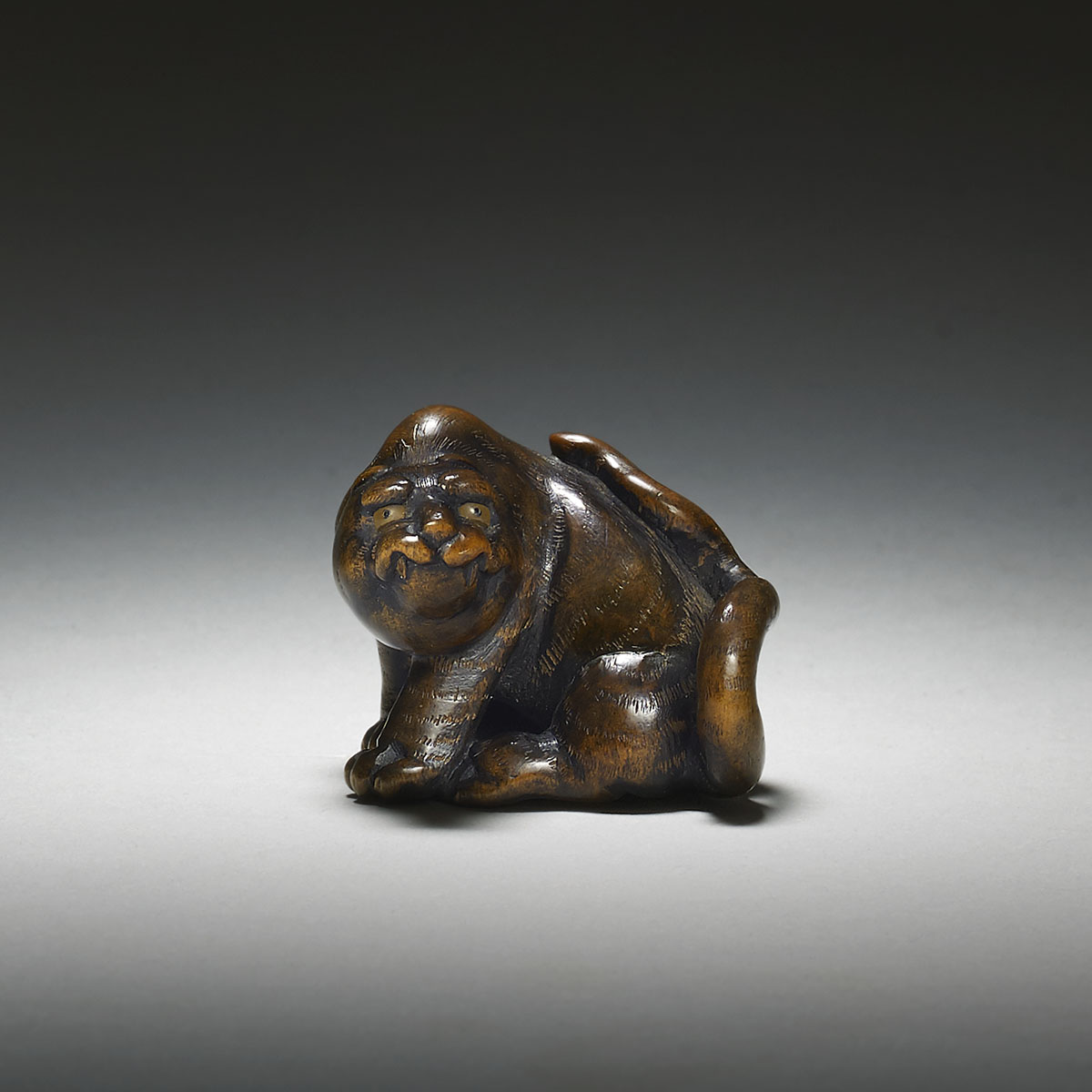 Wood Netsuke of a Seated Tiger by Toyokazu_MR2866._v1