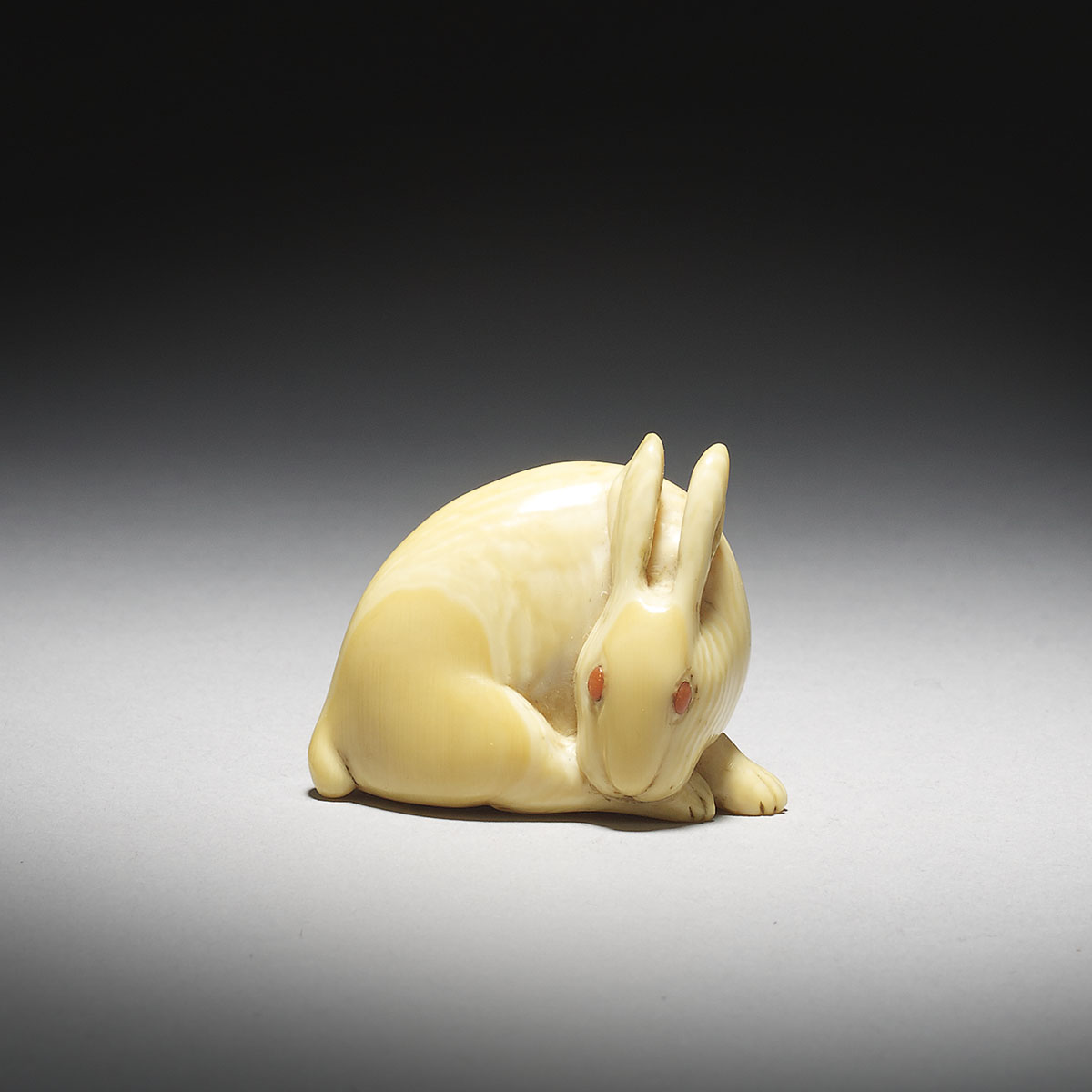 Ivory Netsuke of a Hare by Tomochika _MR2925_v1