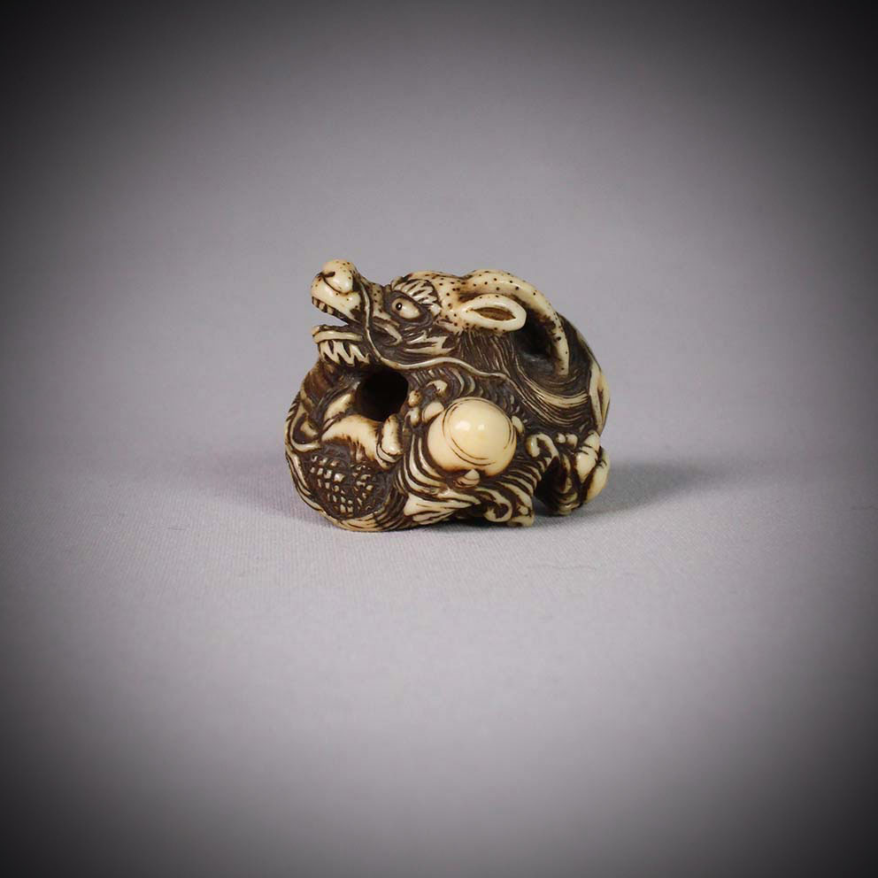 Small ivory netsuke of a dragon, MR3075_v1