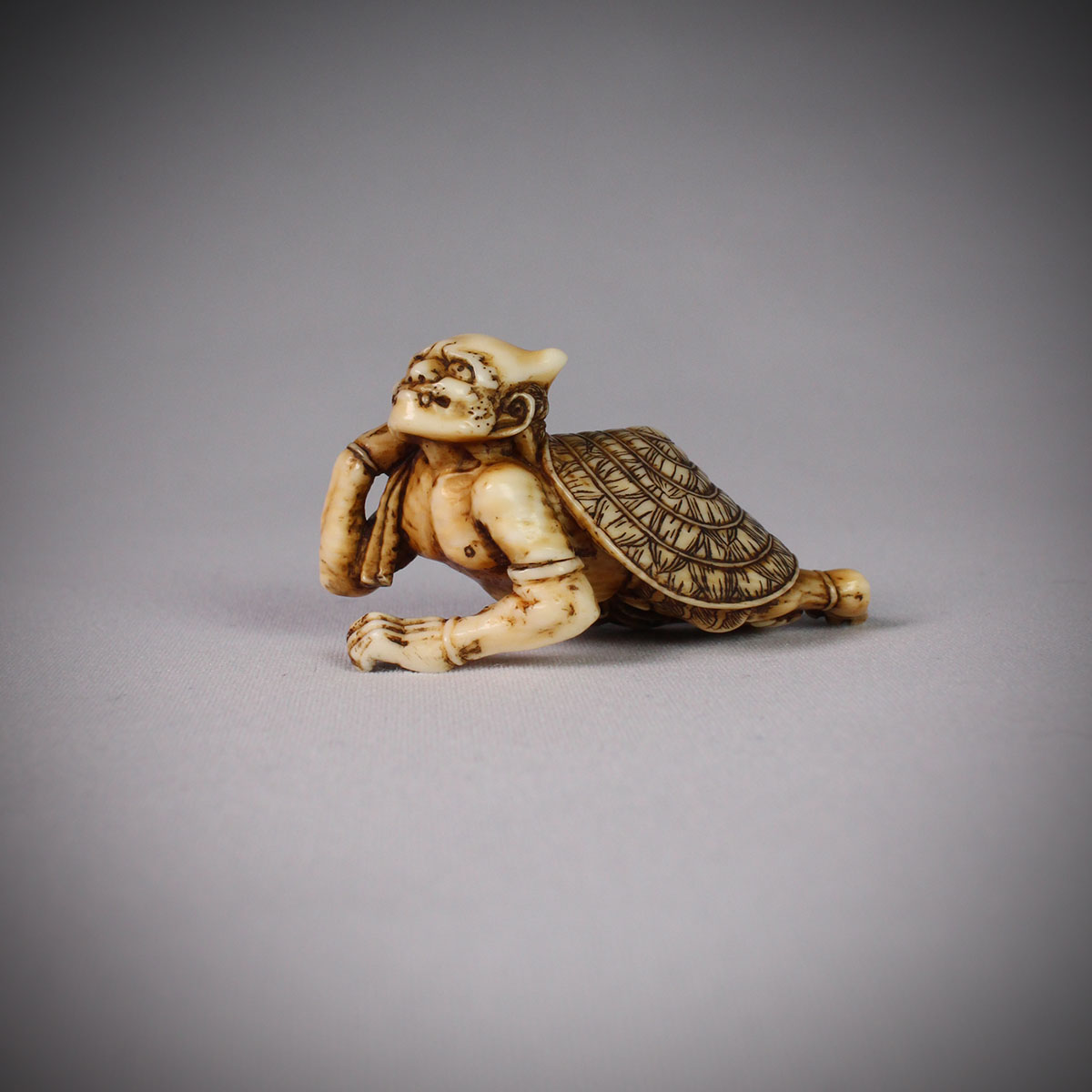 Stained Ivory Netsuke of Oni, MR3074_v1