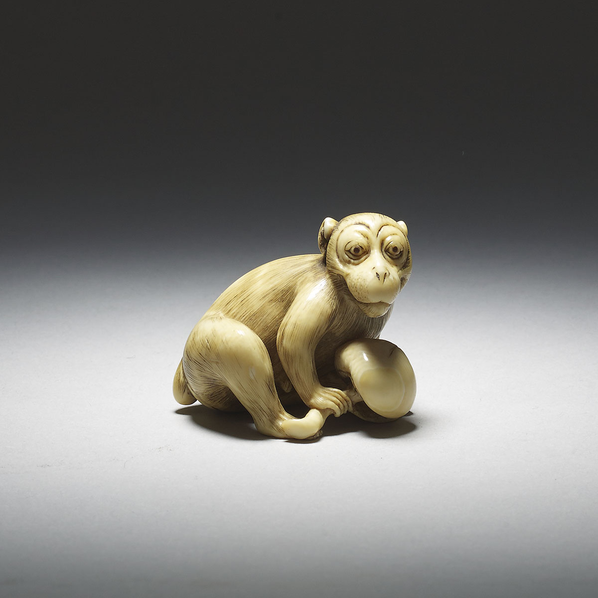 Netsuke of monkey with kaki, Masanao of Kyoto, MR2836_v1