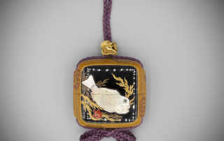 Seal Case Inro with Inlaid Fish, Nomura Chohei (active 1760-1810), MR3201_v1