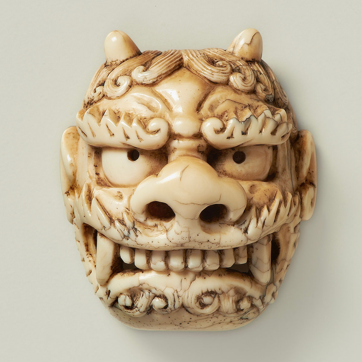 Ittokusai, Mask netsuke of Oni, MR2254-2