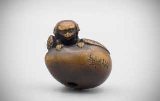 Netsuke of a Tengu coming out of his egg, MR2965_v1