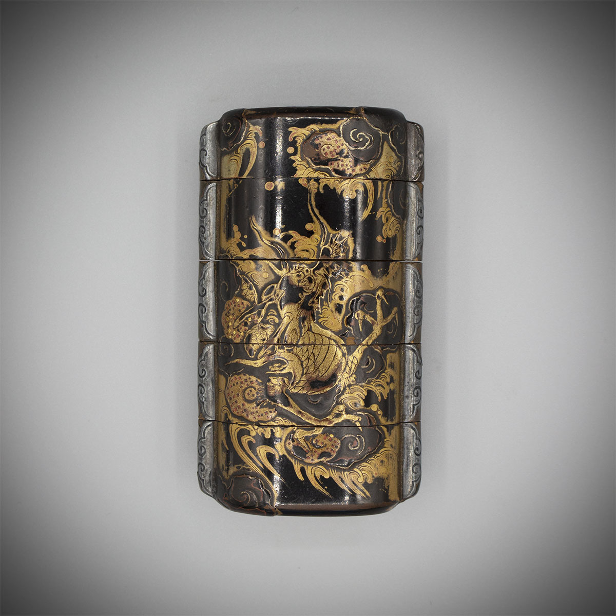 Four-case lacquer inro with dragon, MR3255_v1