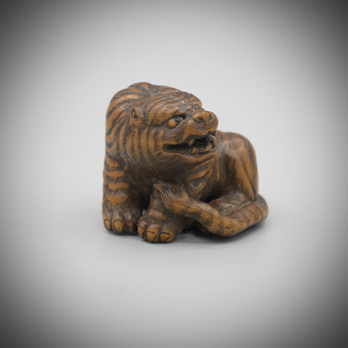 Wood Netsuke of a Tiger by Masanao of Ise, MR3358_v2