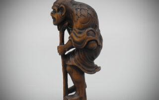 Wood Netsuke of Tekkai Sennin Attributed to Soshin, MR3370