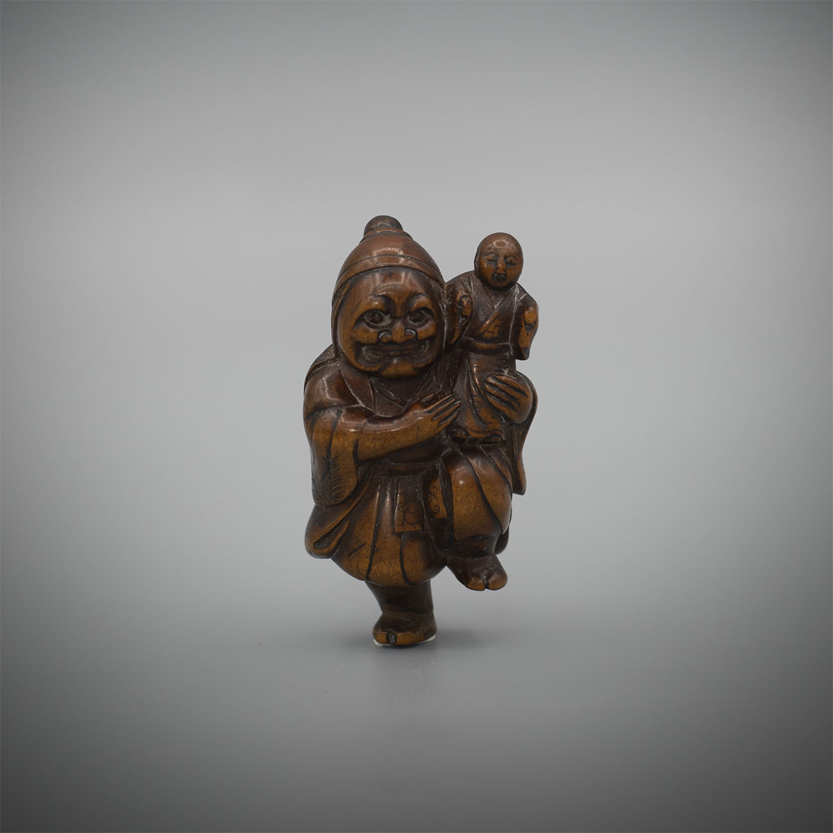 Wood Netsuke of a Performer, MR3354_v1