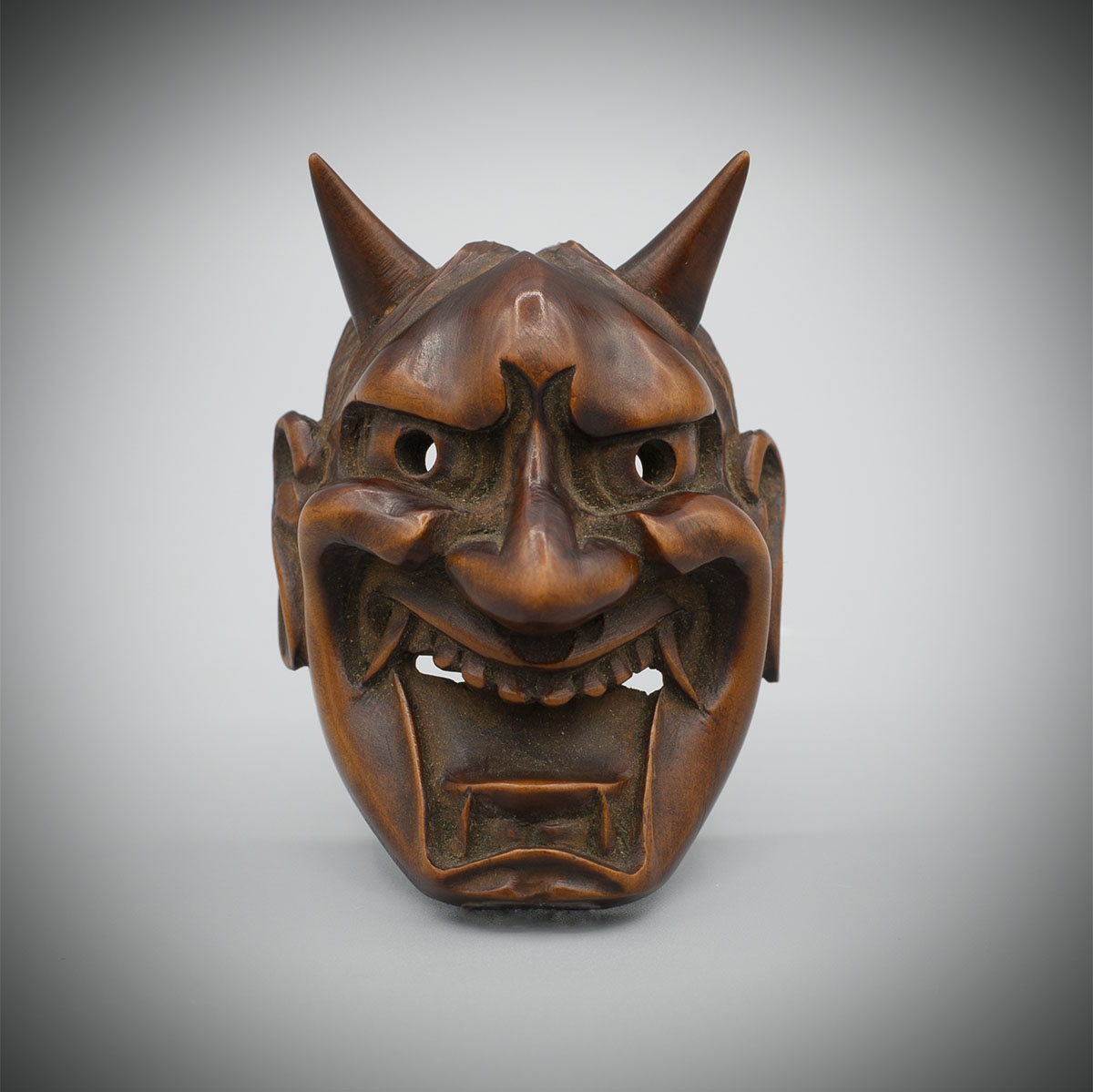 Large Wood Mask Netsuke of Hannya by Deme Family,MR3399_v1