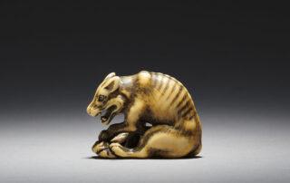 Tomotada workshop ivory netsuke of a wolf MR3422