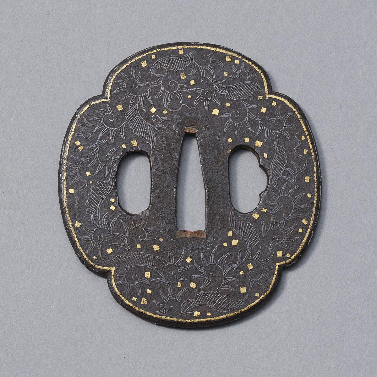 Iron Hizen-Namban style tsuba MR3433