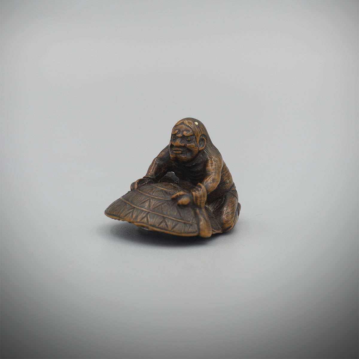 Shoraku wood netsuke of Oni and Shoki MR3054