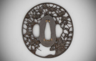 Fine Iron Kyo-Sukashi Tsuba Carved with a Flowering Prunus MR3527_v.1