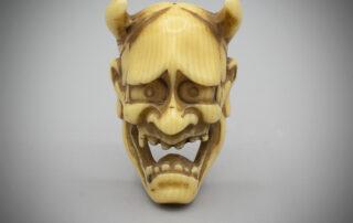 Small Ivory Mask Netsuke of Hannya MR3398_v.1
