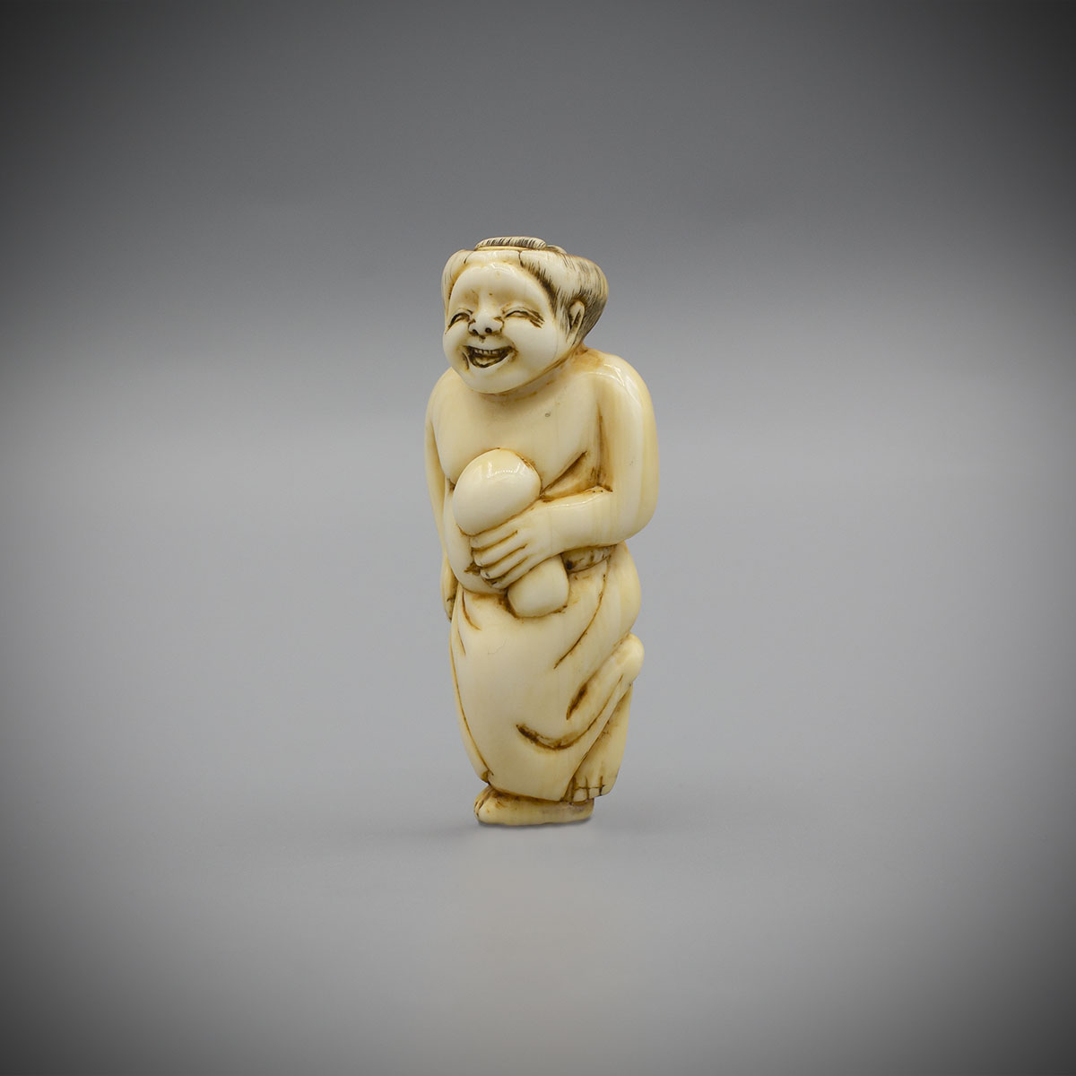 Ivory Netsuke of Okame, MR3555_v.1