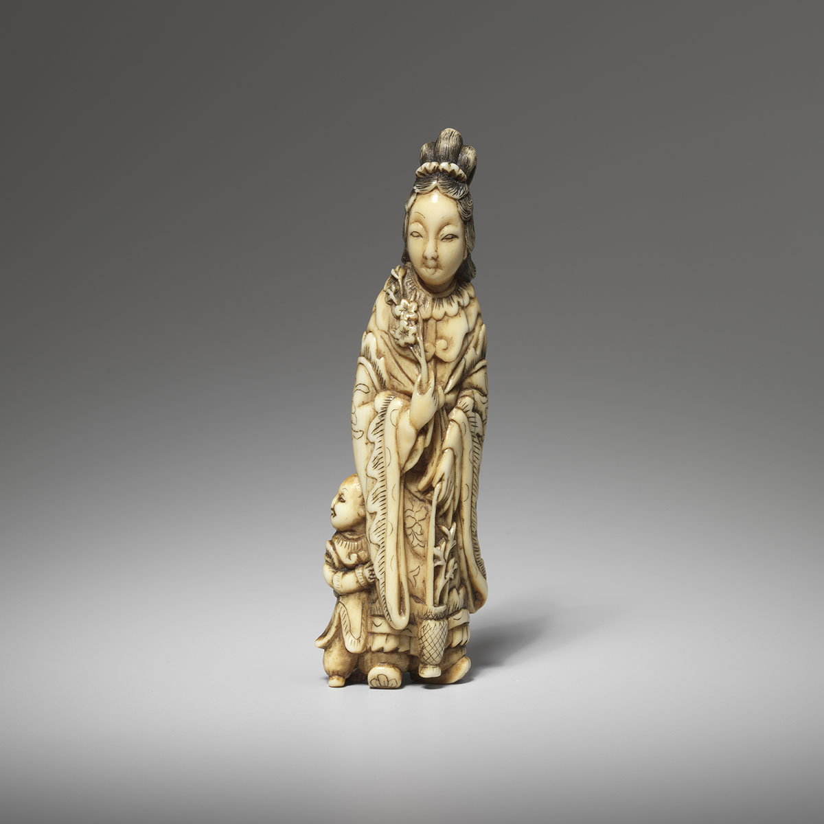 Ivory Netsuke of Seiobo, MR3554_v.1.1