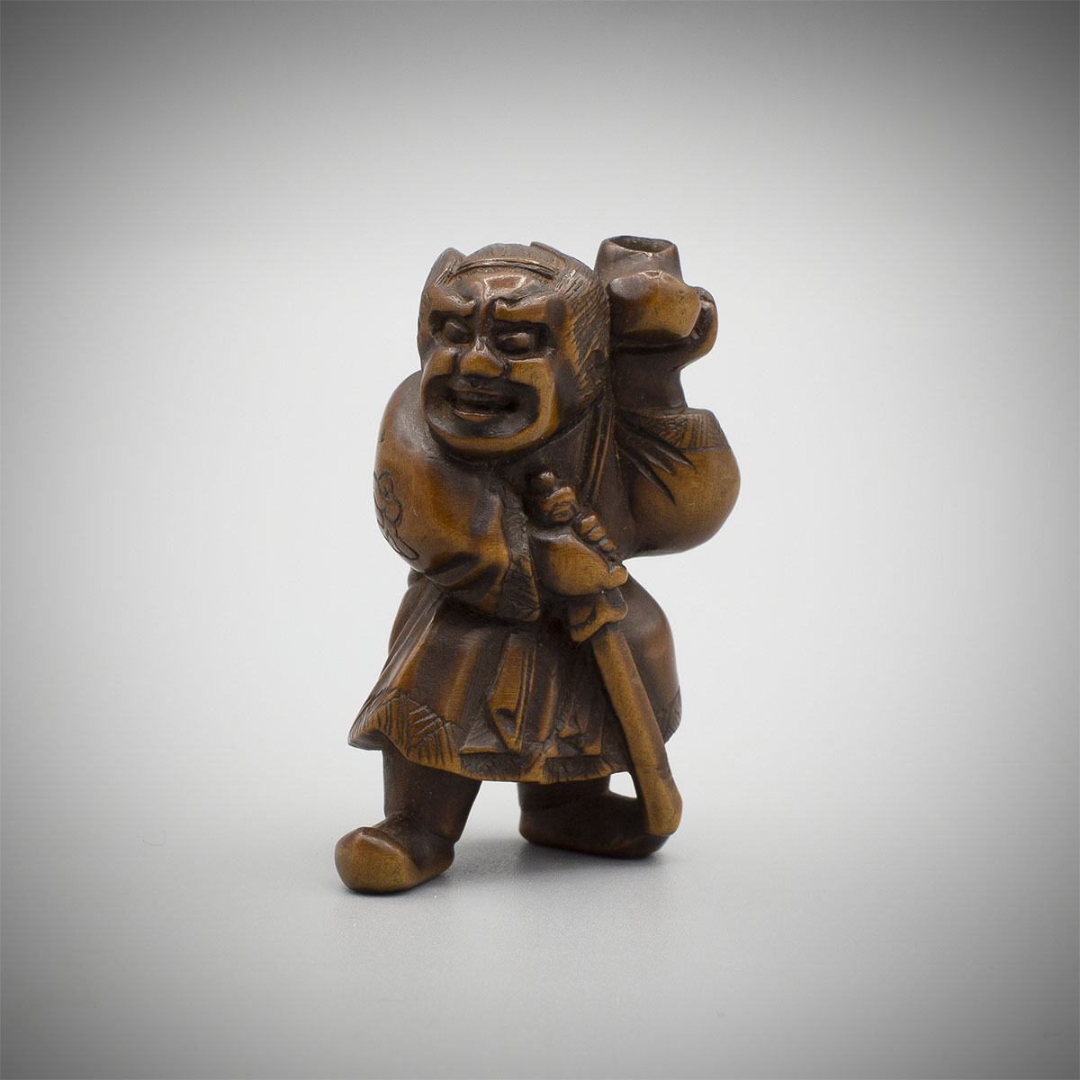 Wood Netsuke of Kamatari, MR3564_v.1