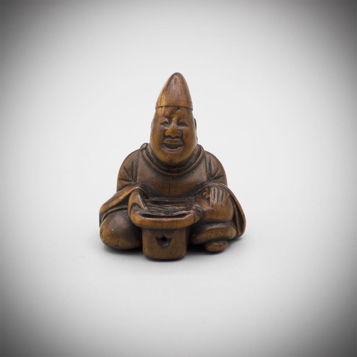 Wood Netsuke of Shinto Priest MR3494_v.1
