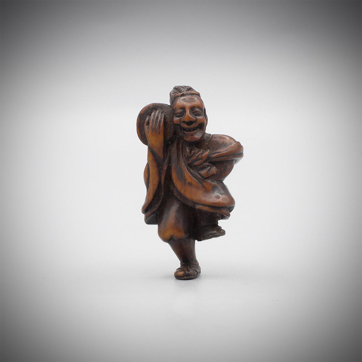 Wood Netsuke of a Performer, MR3533_v.1