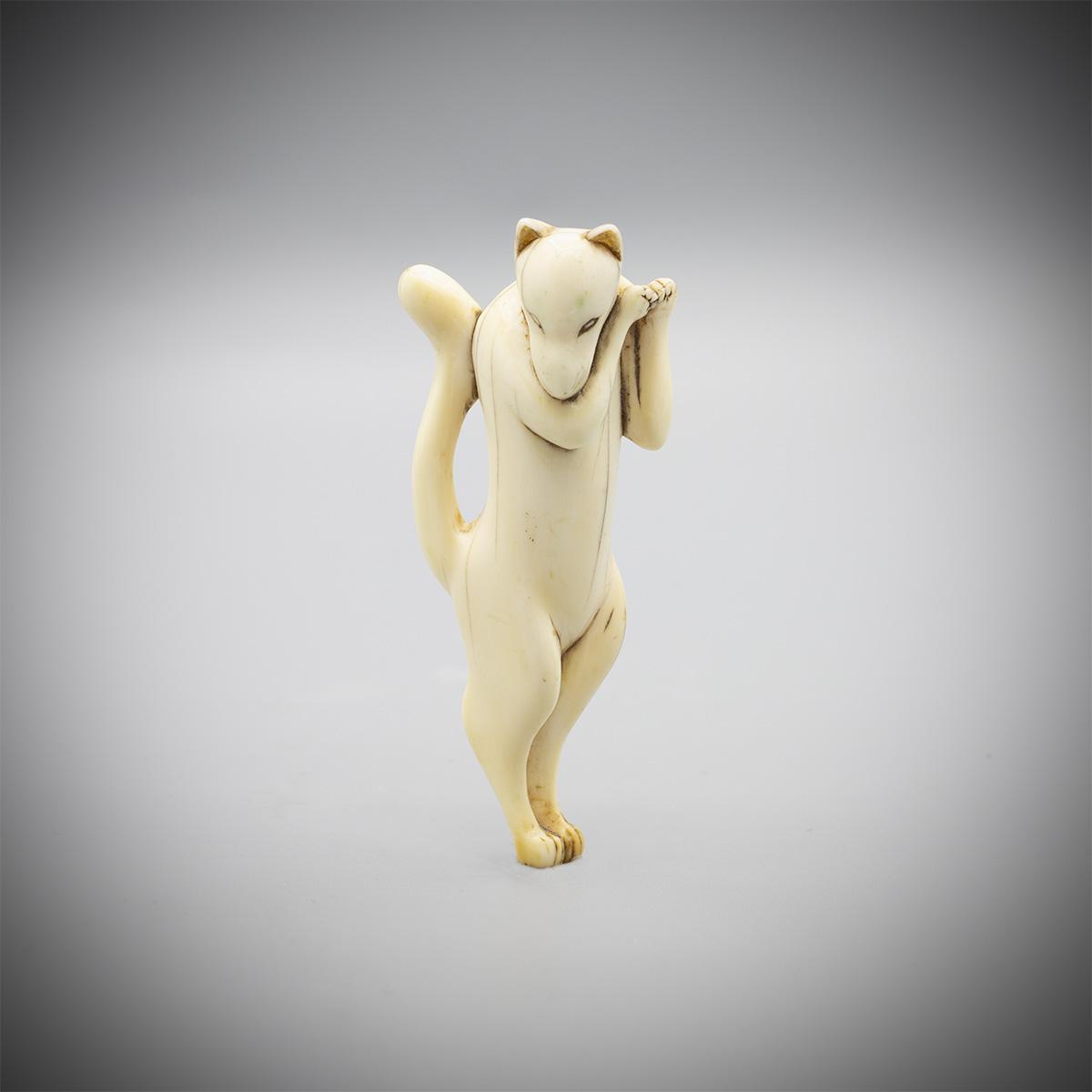 Knochennetsuke des Inari-Fuchses, MR3575_v.1