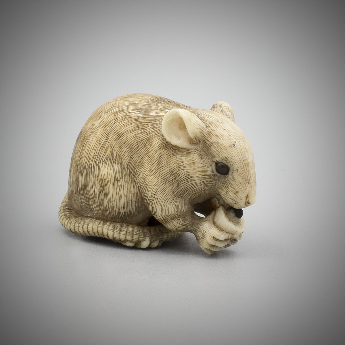 Ivory Netsuke of a Rat by Okatori, MR3573_v.1