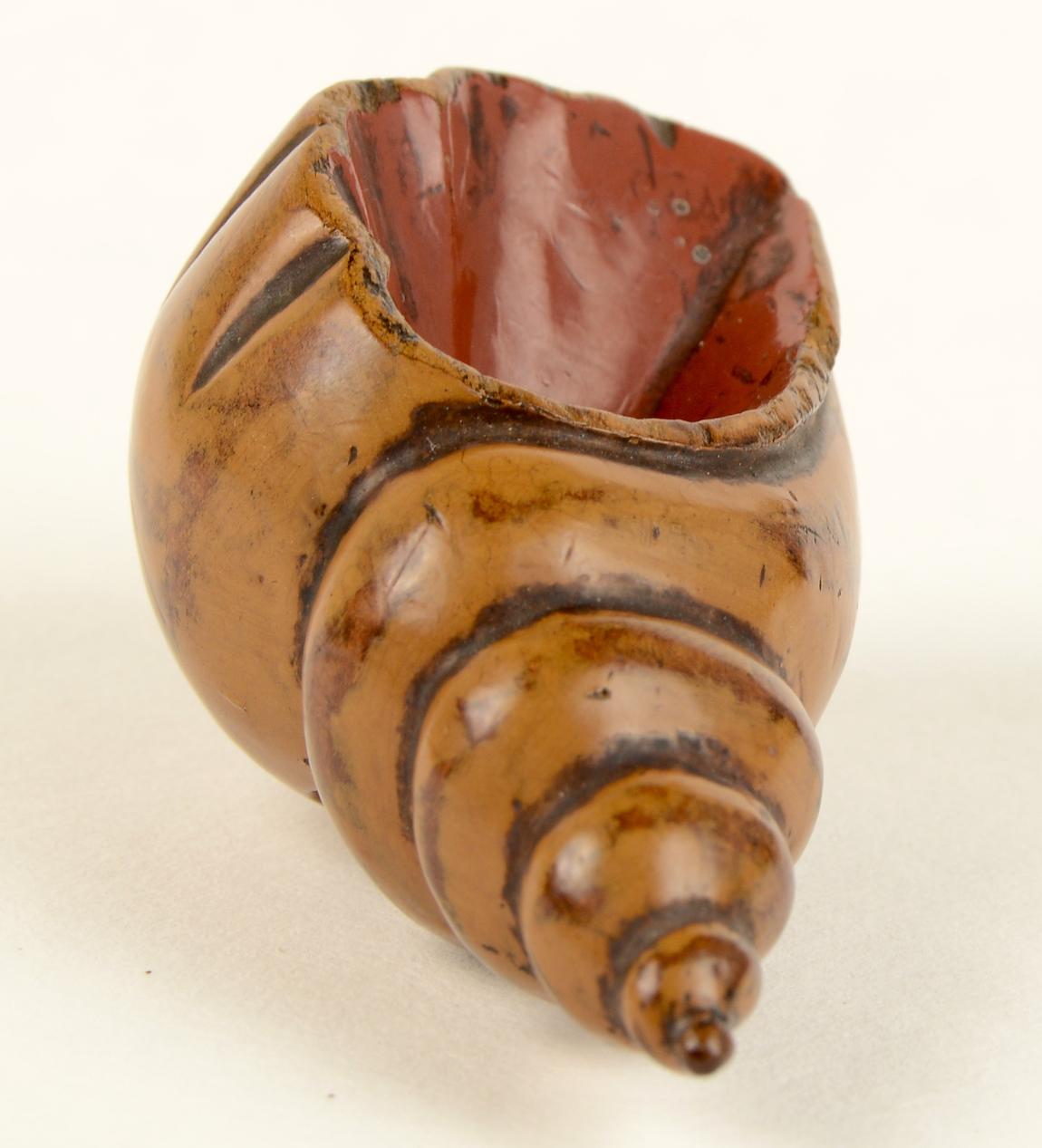 Large Wood Shell Netsuke 2