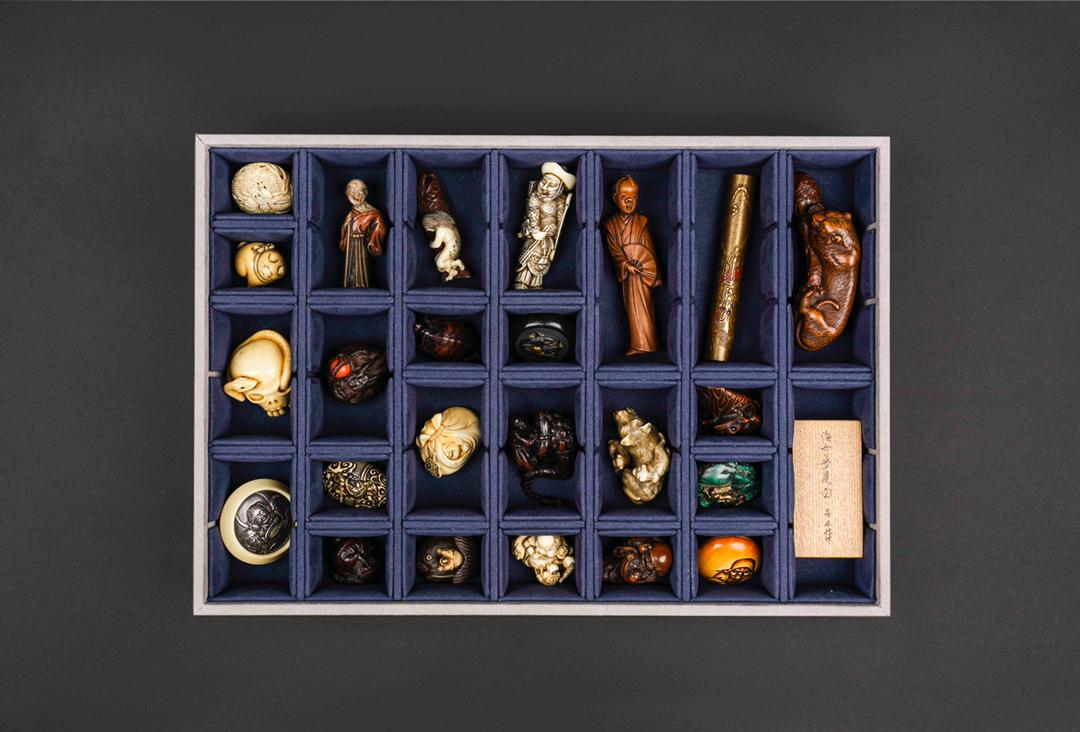 Storage Trays for Netsuke filled