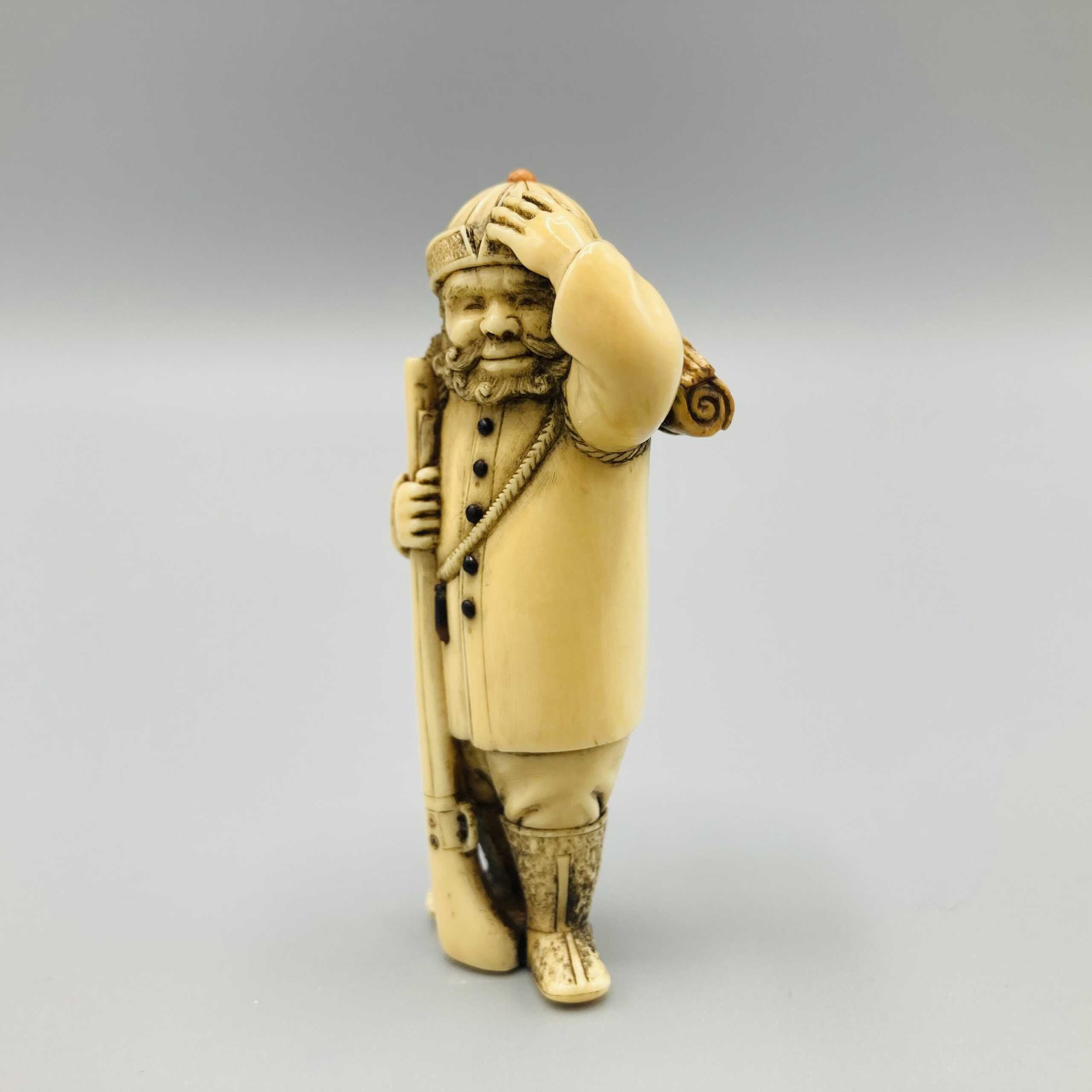 Chokusai ivory netsuke of FM Pinto 4