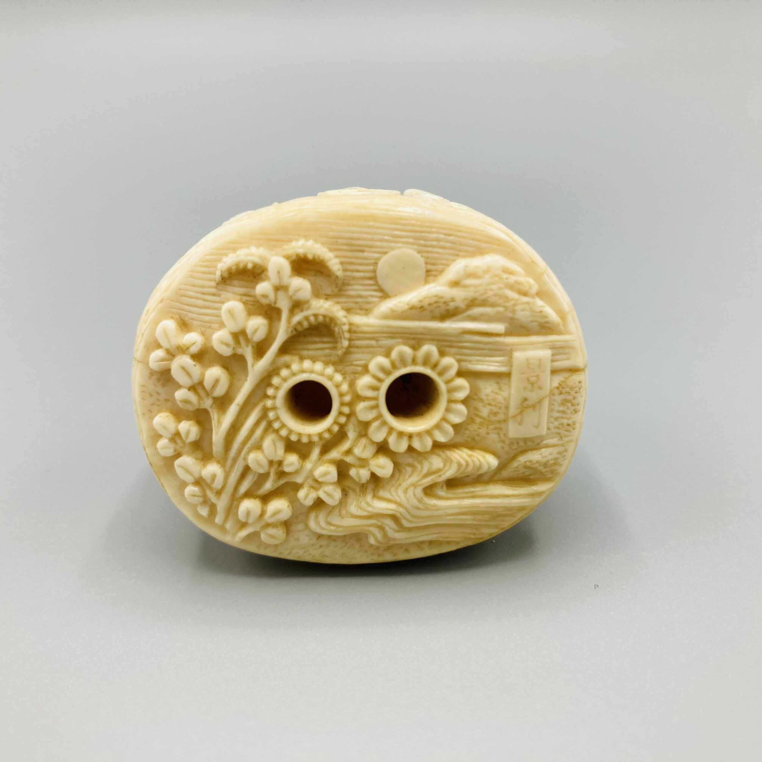 Kagetoshi Ivory netsuke of Narihira 5