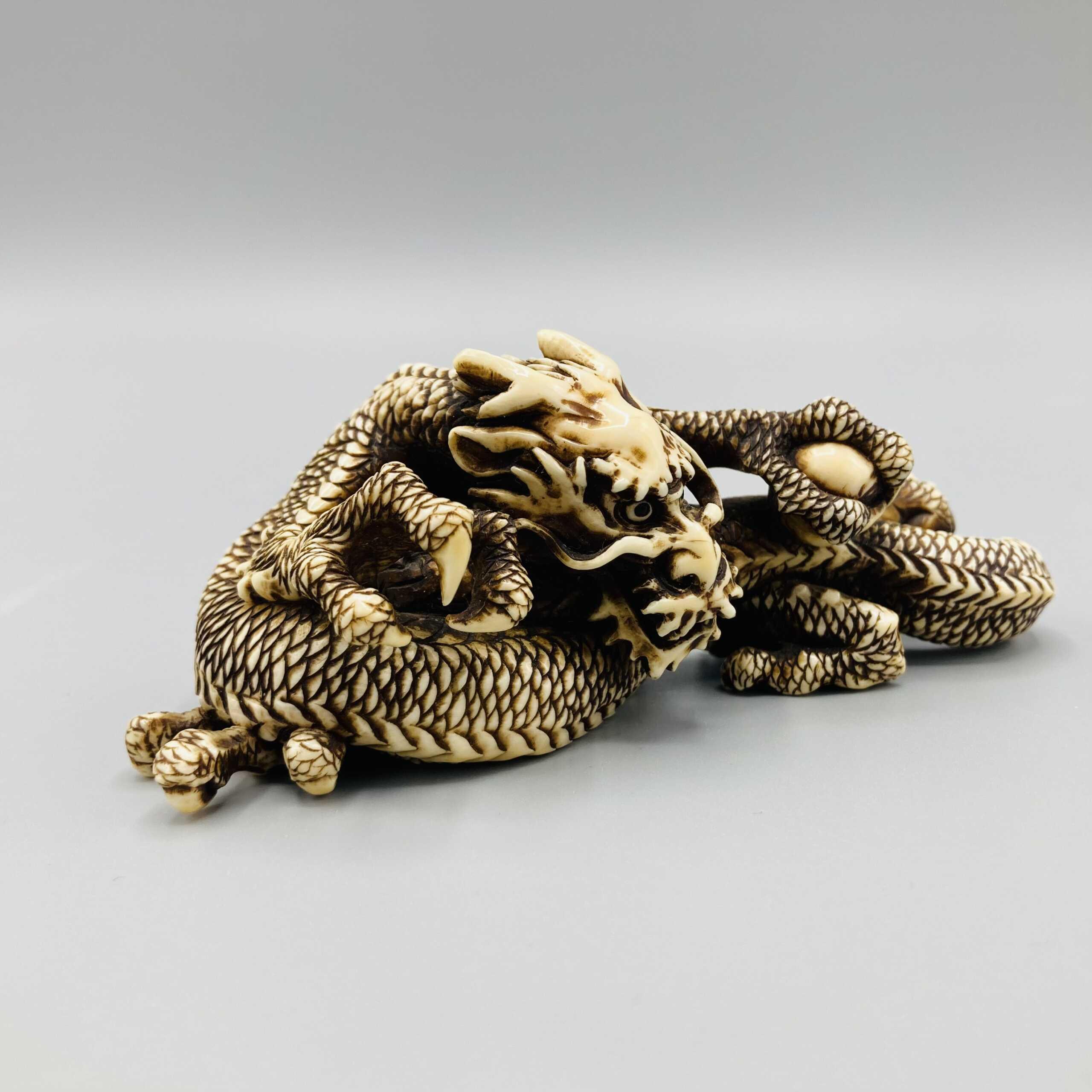 Ivory dragon okimono 2