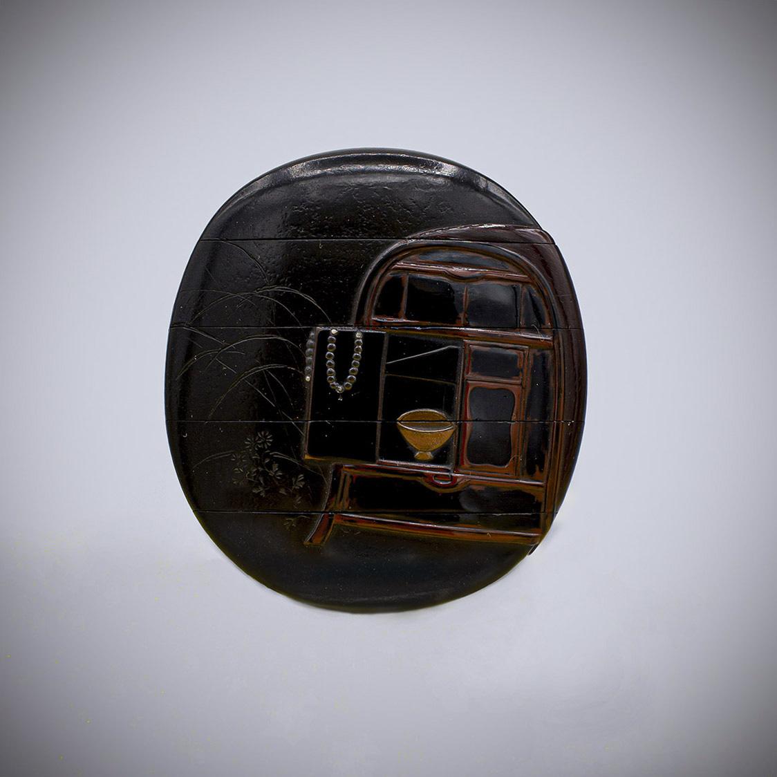 MR3855_v.1-4 A lacquer four case inro by Shibata Zeshin