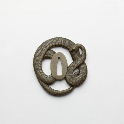 Sentoku tsuba in the form of a snake